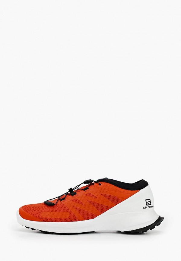 мужские низкие кроссовки salomon, красные