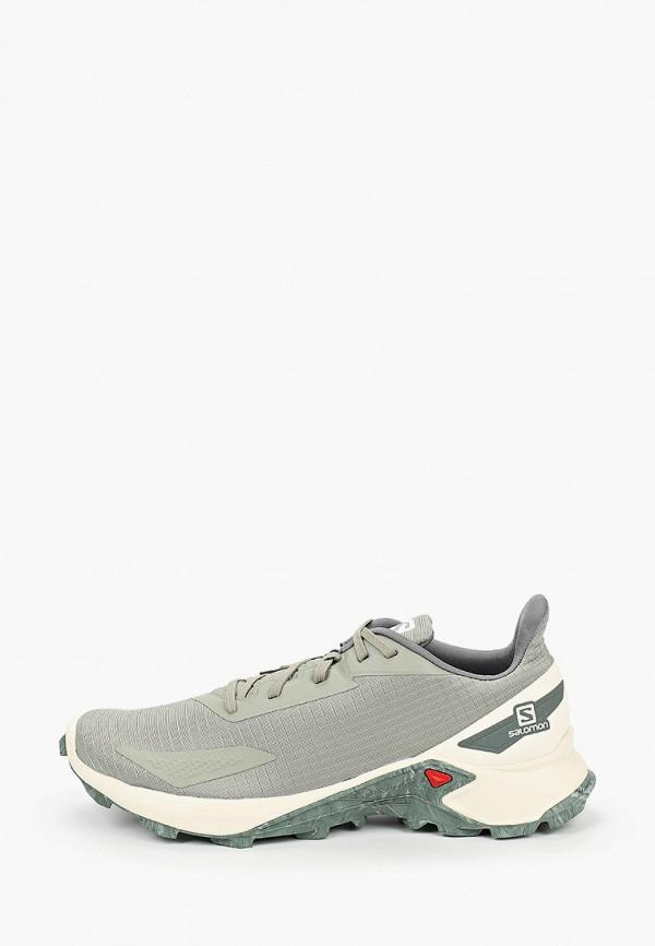 мужские низкие кроссовки salomon, зеленые