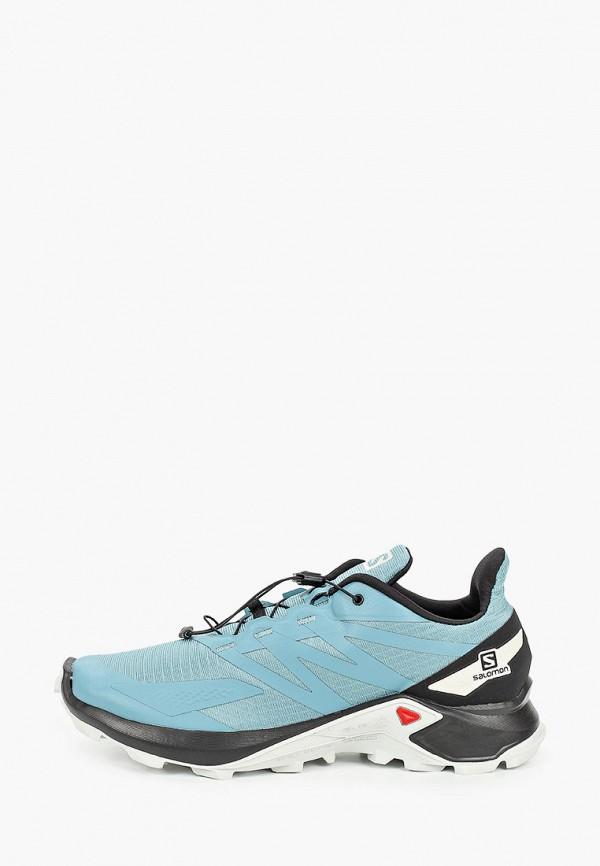 мужские низкие кроссовки salomon, голубые