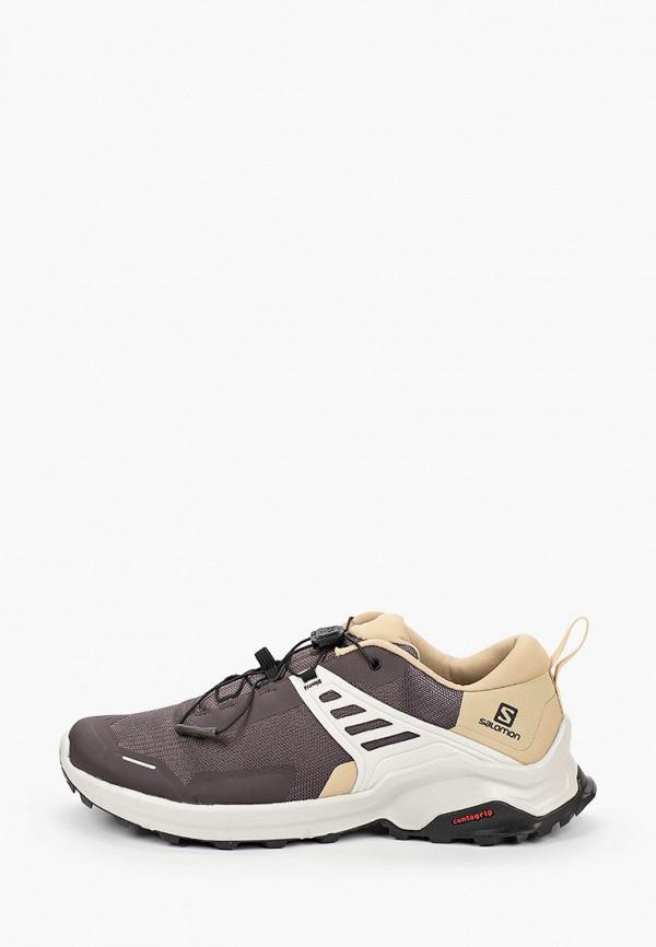 мужские низкие кроссовки salomon, коричневые