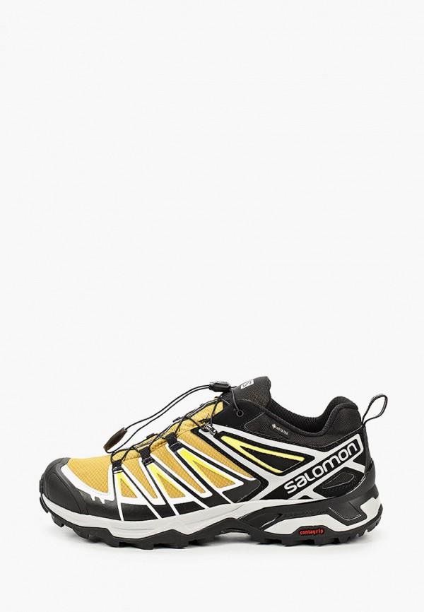 мужские низкие кроссовки salomon, желтые