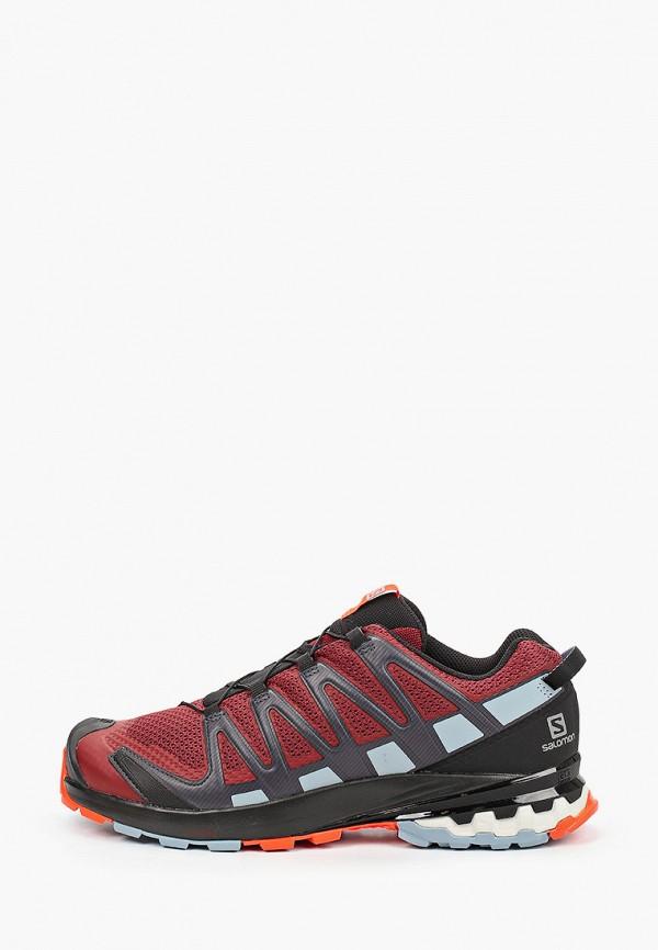 мужские низкие кроссовки salomon, бордовые