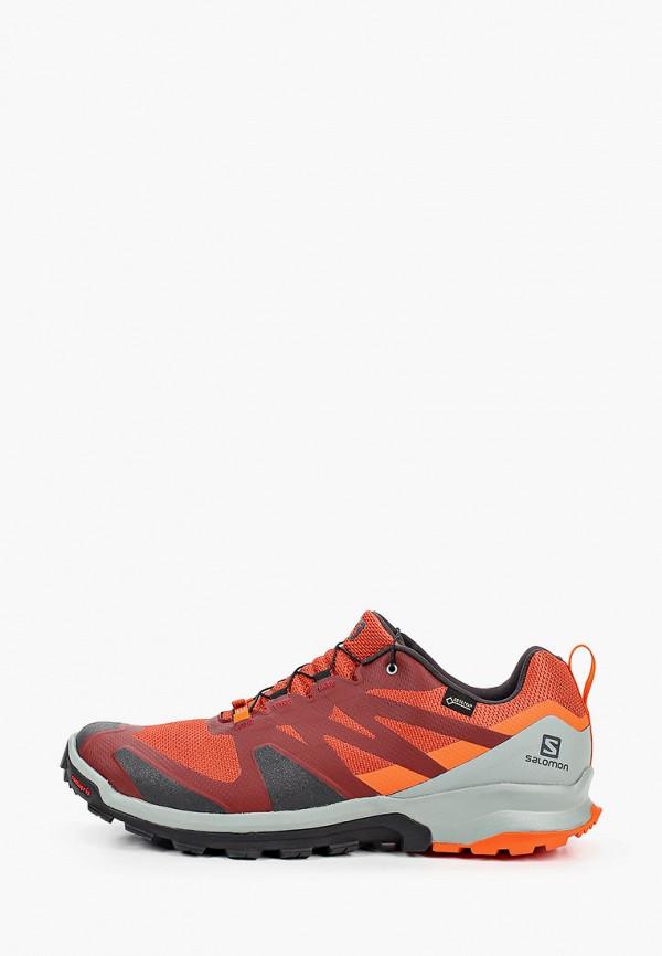 мужские низкие кроссовки salomon, оранжевые