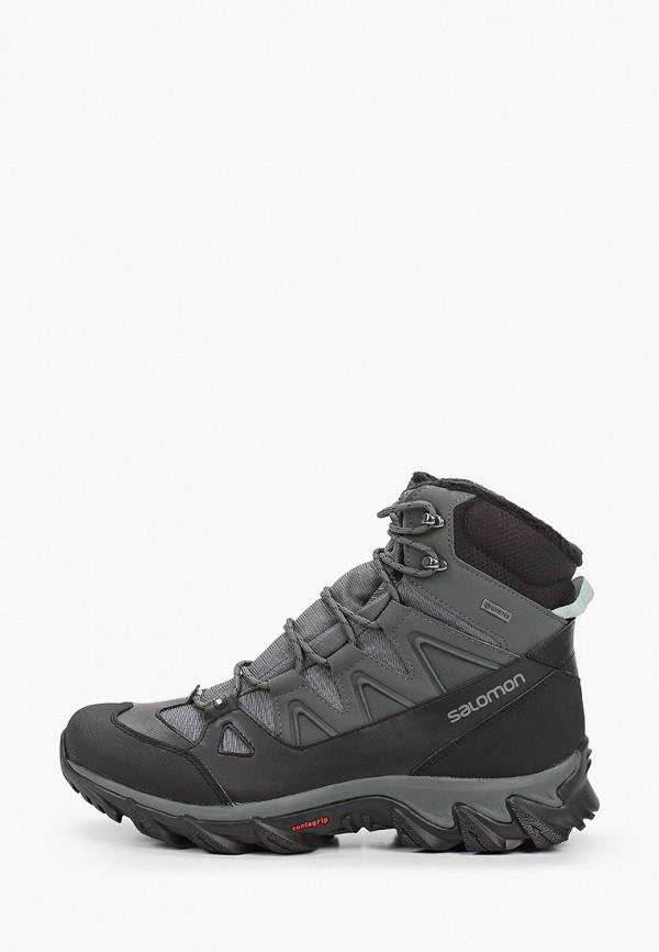 мужские ботинки salomon, зеленые