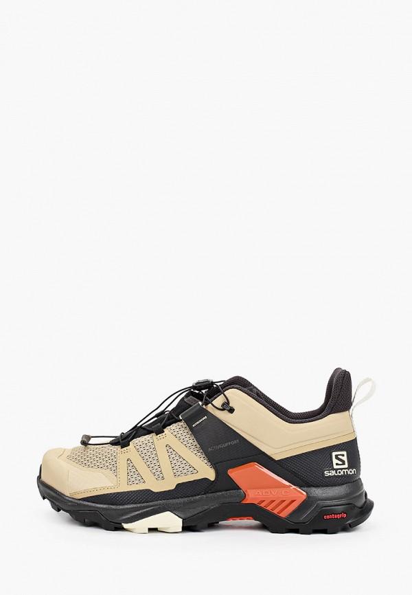 мужские ботинки salomon, бежевые