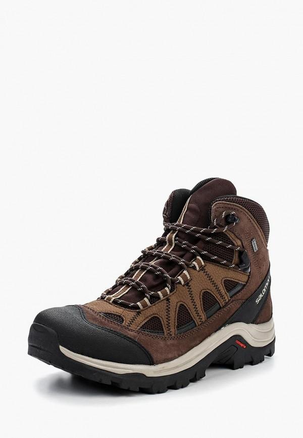 мужские ботинки salomon, коричневые