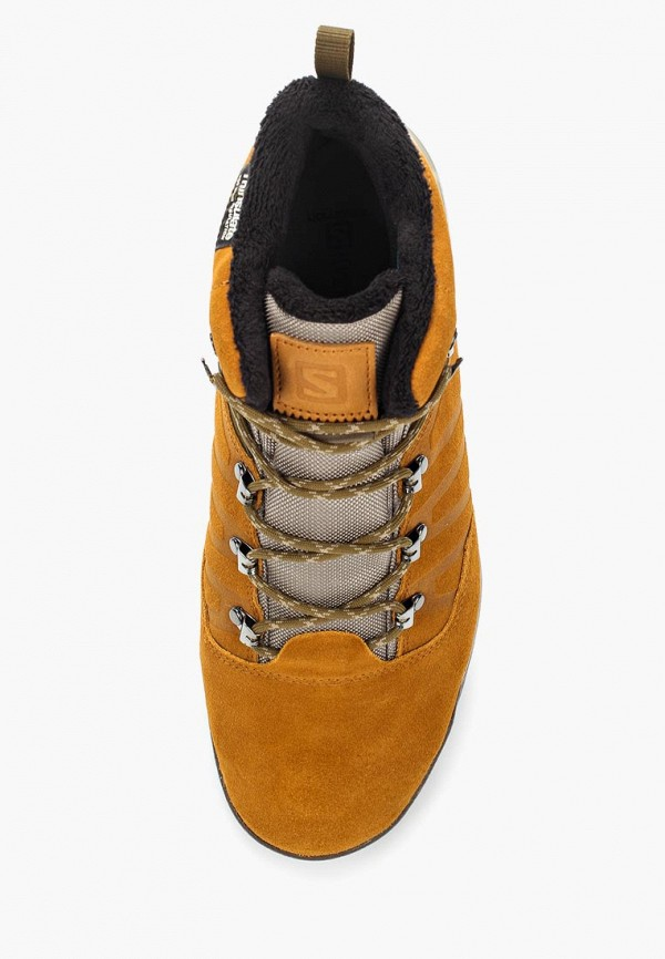 Фото 4 - мужские ботинки и полуботинки Salomon коричневого цвета