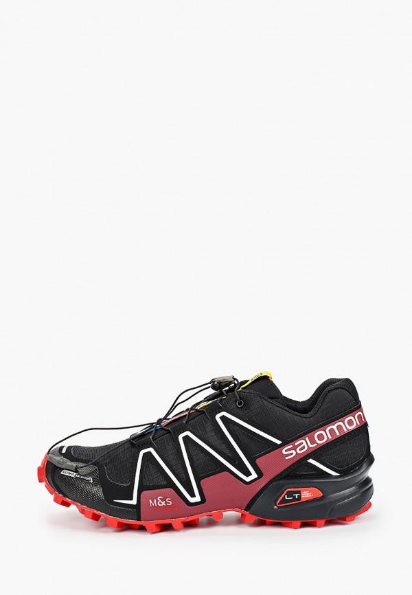 женские кроссовки salomon, черные