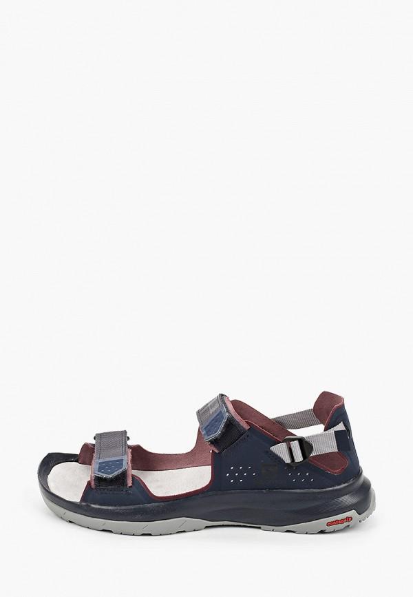 женские сандалии salomon, синие