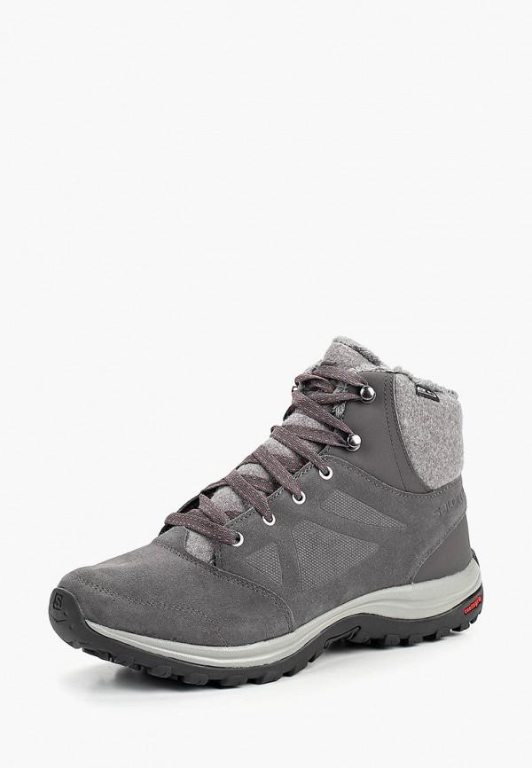 женские ботинки salomon, серые