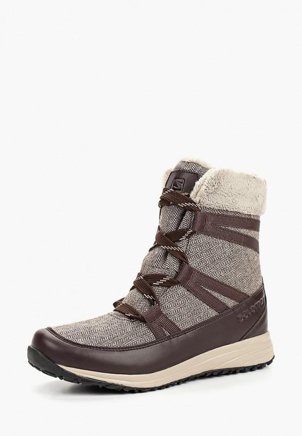 женские ботинки salomon, коричневые