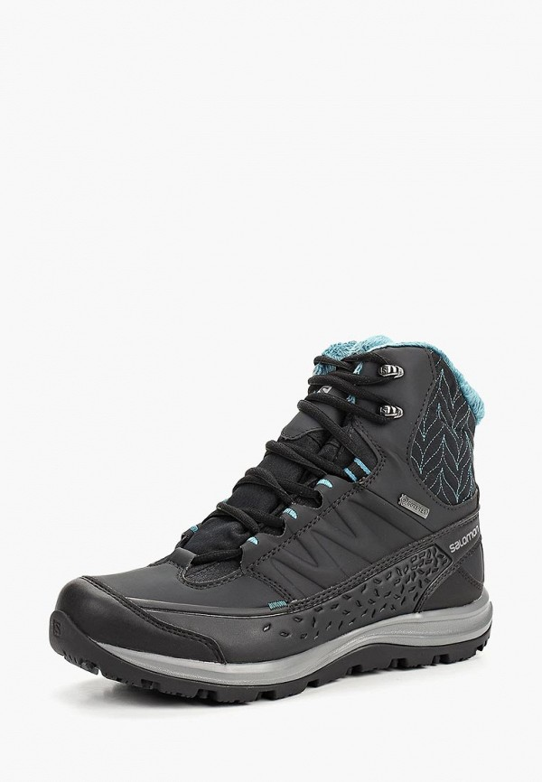Купить Ботинки Salomon, KAÏNA MID GTX®, SA007AWBOMK2, черный, Осень-зима 2018/2019