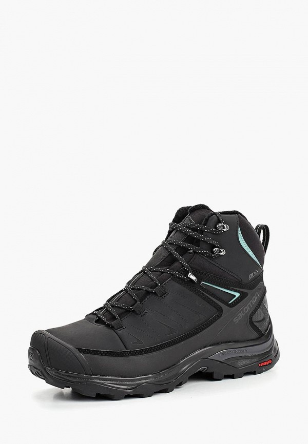 Купить Ботинки Salomon, X ULTRA MID WINTER CS WP W, SA007AWBOMK4, черный, Осень-зима 2018/2019