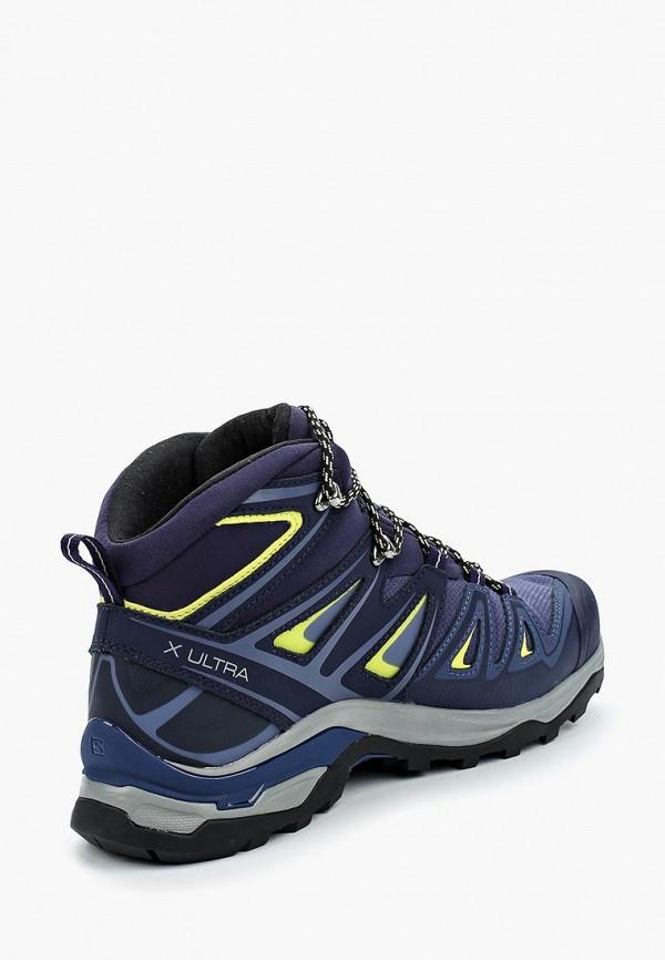 Фото 2 - Ботинки трекинговые Salomon синего цвета