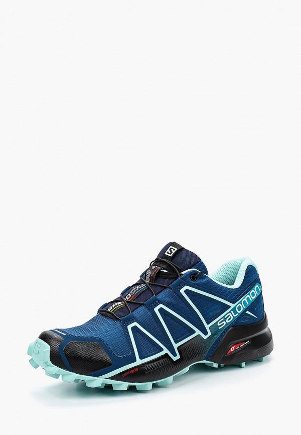 Фото - женские кроссовки Salomon синего цвета