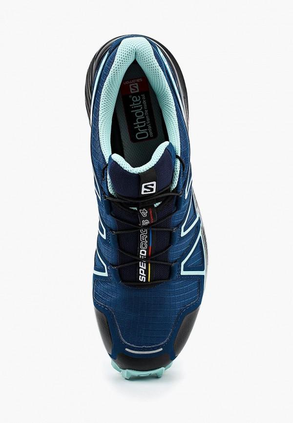 Фото 4 - женские кроссовки Salomon синего цвета