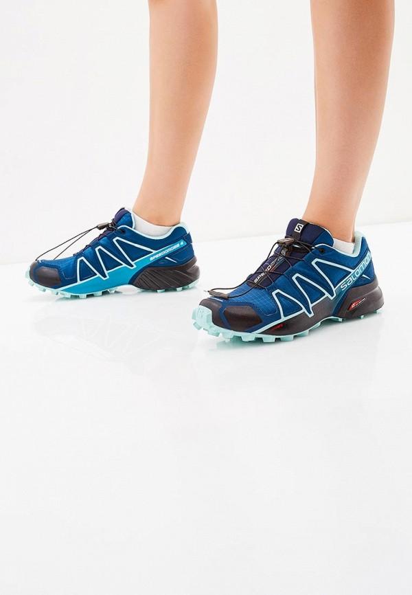 Фото 5 - женские кроссовки Salomon синего цвета