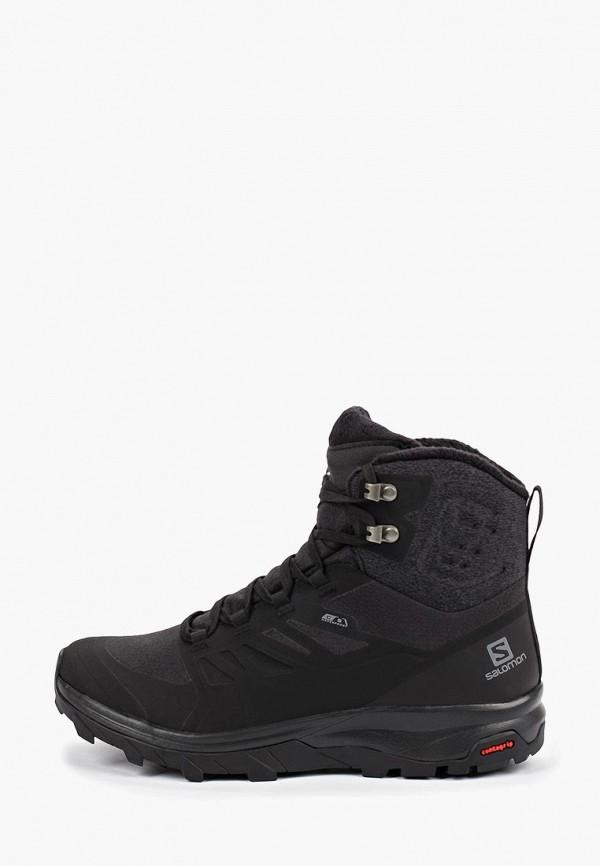 Фото - Ботинки трекинговые Salomon черного цвета