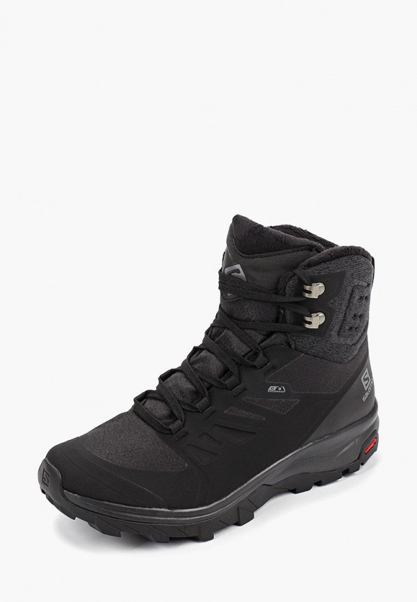 Фото 2 - Ботинки трекинговые Salomon черного цвета