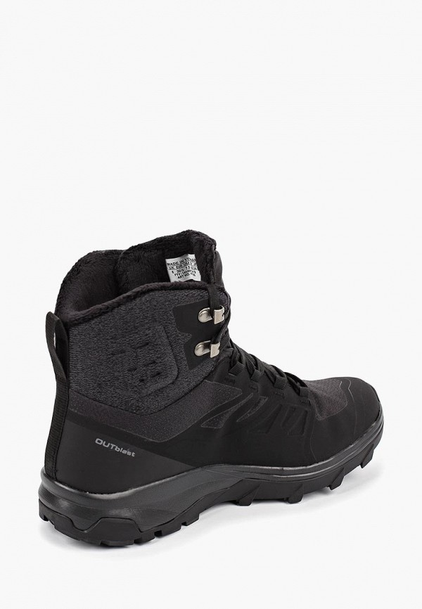 Фото 3 - Ботинки трекинговые Salomon черного цвета