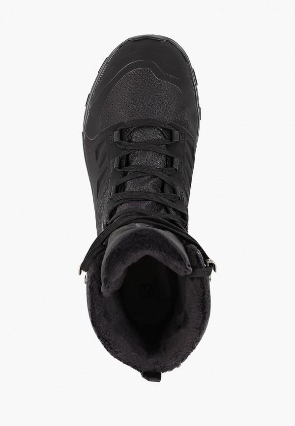 Фото 4 - Ботинки трекинговые Salomon черного цвета