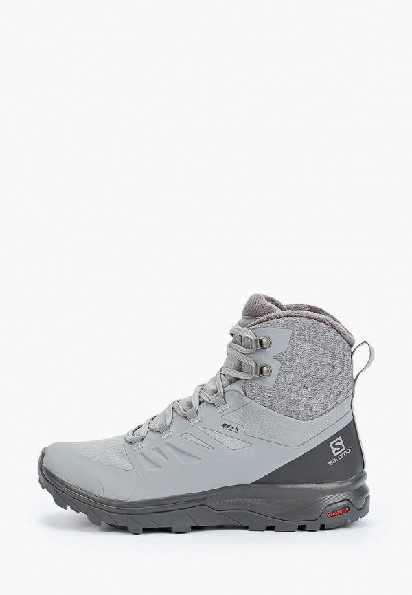 Фото - Ботинки трекинговые Salomon серого цвета