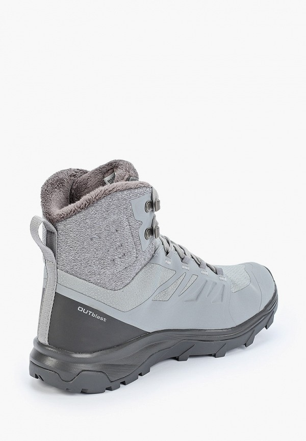 Фото 3 - Ботинки трекинговые Salomon серого цвета