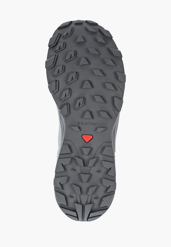 Фото 5 - Ботинки трекинговые Salomon серого цвета