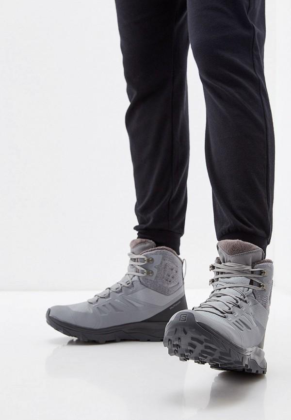 Фото 7 - Ботинки трекинговые Salomon серого цвета