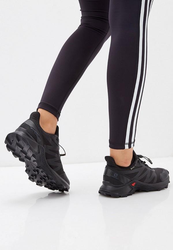 Фото 6 - женские кроссовки Salomon черного цвета