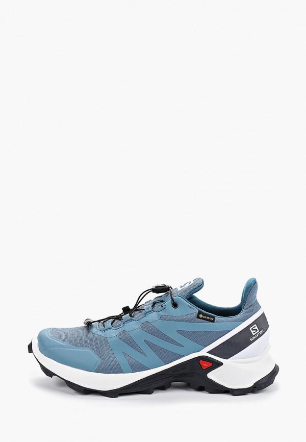 женские кроссовки salomon, голубые
