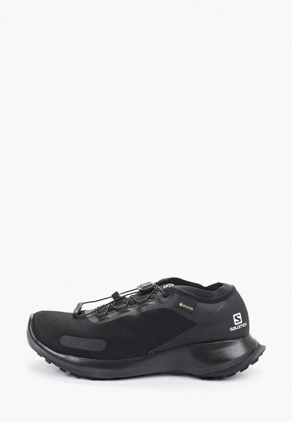 женские низкие кроссовки salomon, черные