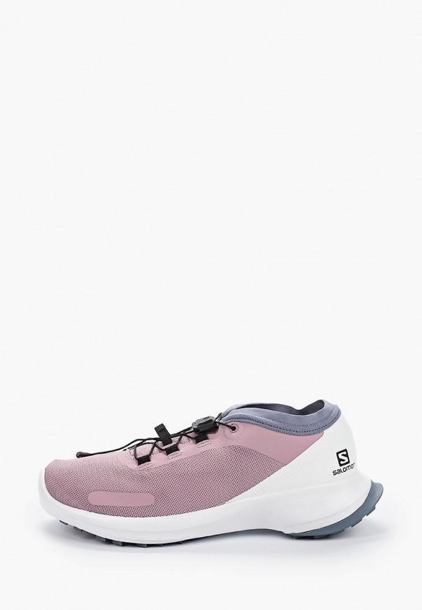 женские кроссовки salomon, розовые