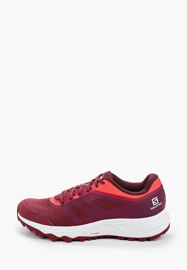 женские кроссовки salomon, бордовые