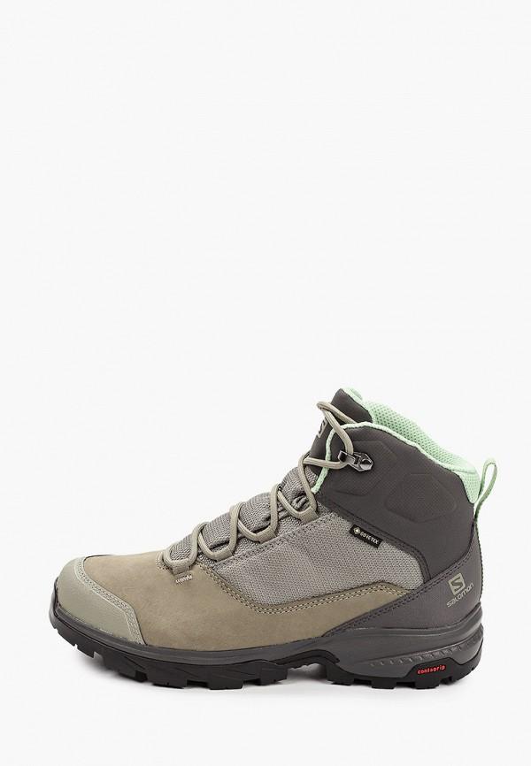 женские ботинки salomon, хаки