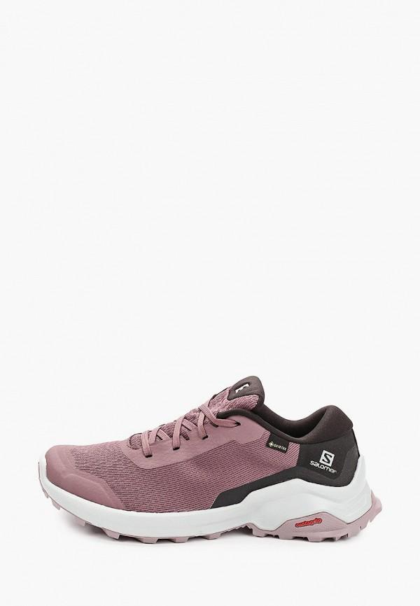 женские кроссовки salomon, фиолетовые