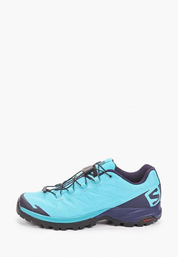 женские ботинки salomon, голубые