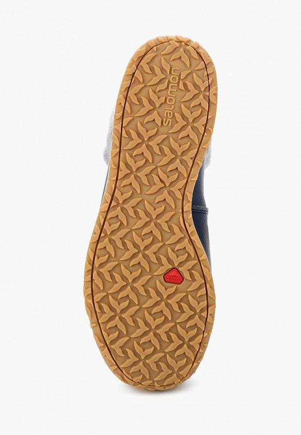 Фото 3 - женские ботинки и полуботинки Salomon синего цвета