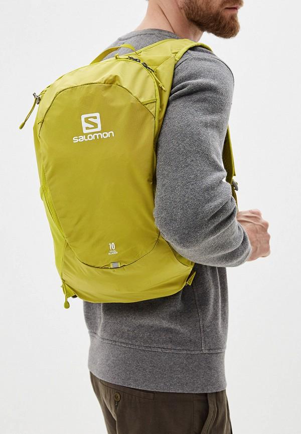 Фото 5 - мужской рюкзак Salomon желтого цвета