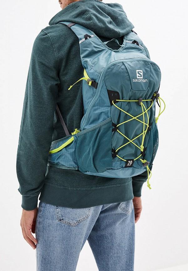 Фото 5 - Женский рюкзак Salomon зеленого цвета