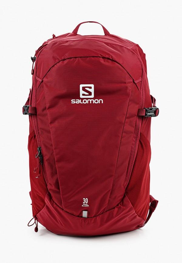 женский рюкзак salomon, бордовый