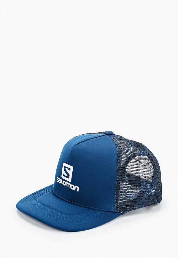 мужская бейсболка salomon, синяя