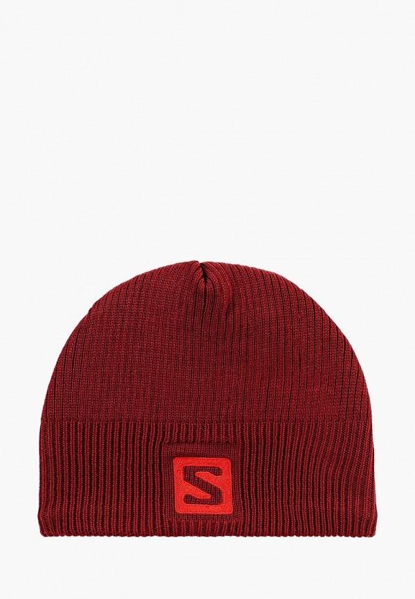 женская шапка salomon, красная