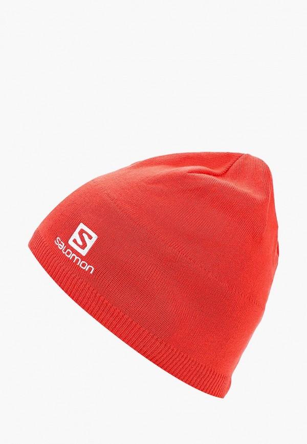 Купить Шапка Salomon, SALOMON BEANIE, sa007cuboig0, красный, Осень-зима 2018/2019