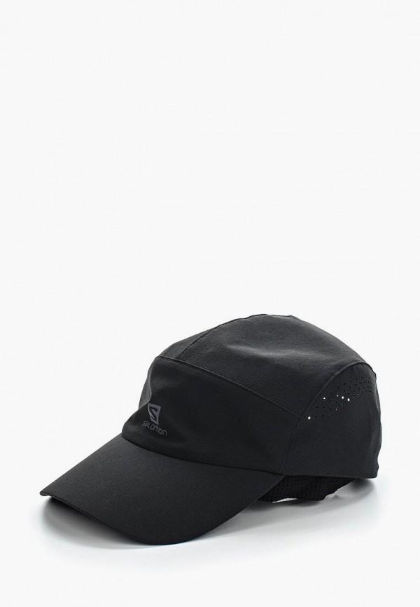 женская кепка salomon, черная