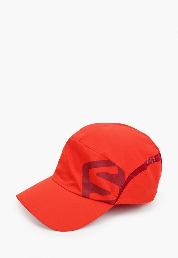женская бейсболка salomon, красная