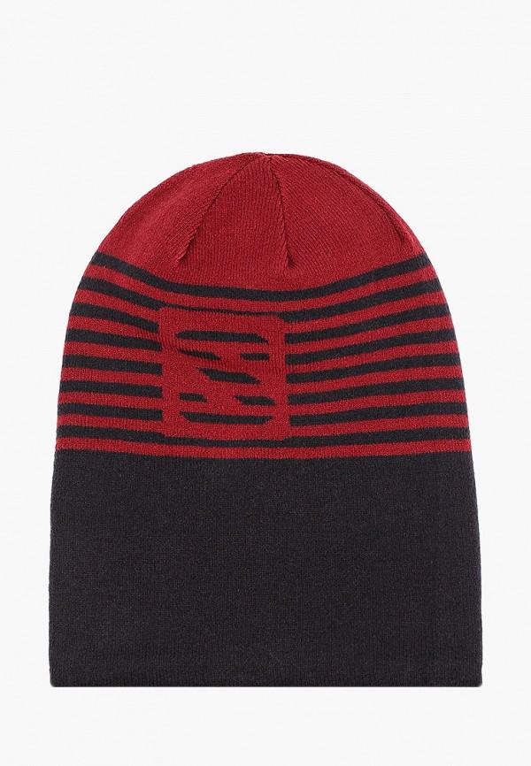 женская шапка salomon, бордовая