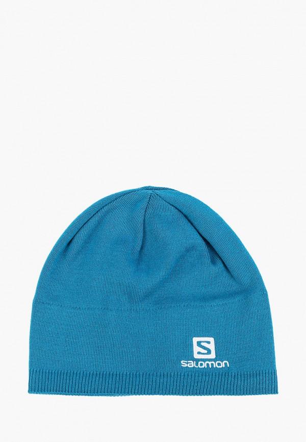 женская шапка salomon, серая
