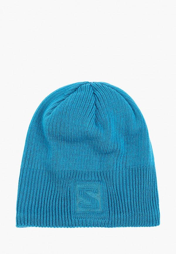 женская шапка salomon, голубая