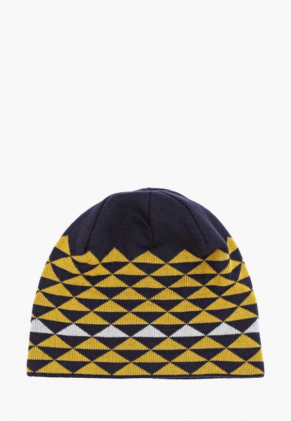 женская шапка salomon, желтая